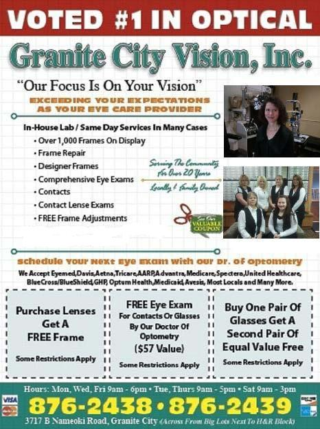 Granite City Coupons >> Granite City Vision Has Low Cost Eyeglasses Eye Exams And Quality